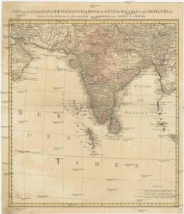 Carte d'une partie des Indes orientales, estats du Mogol les côtes de Malabar et de Coromandel &c