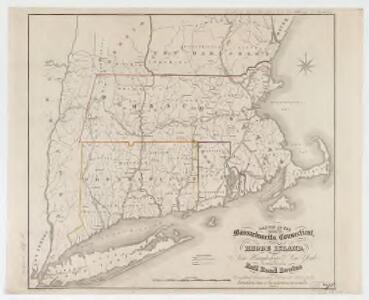 Sketch of the states of Massachusetts, Connecticut, and Rhode Island, and parts of New Hampshire & New York exhibiting the several rail road routes completed, constructing, chartered & contemplated : published by order of the Legislature of Massachusetts