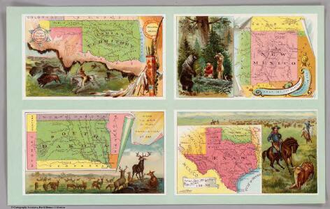 Indian Territory, New Mexico, South Dakota, Texas.