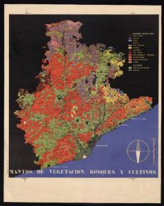 Mantos de vegetación: bosques y cultivos: [provincia de Barcelona] / [Salvador Llobet]