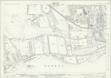 Middlesex XXV.6 & 10 (includes: East Molesey; Hanworth; Sunbury; Twickenham St Mary The Virgin; Walton Upon Thames; West Molesey) - 25 Inch Map