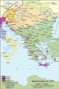 Südosteuropa um 1475