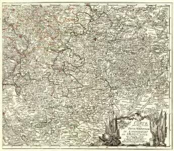 Carte pour Servir de Suite à la Partie Meridionale du Landgraviat de Hesse-Cassel avec les pays voisins de la Thüringe