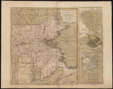 The seat of war in New England, by an American volunteer, with the marches of the several corps sent by the Colonies towards Boston, with the attack on Bunkers-Hill