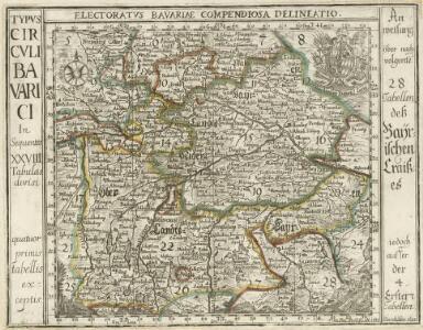 Electoratvs Bavariae Compendiosa delineatio.