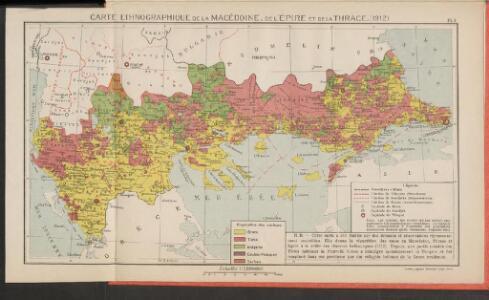 Carte ethnographique de la Macédoine, de l'Èpire et de la Thrace (1912)