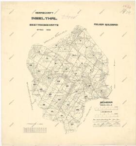 Porostní mapa revíru Ostrůvek