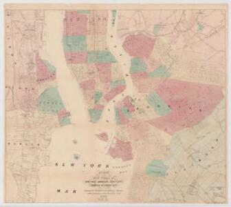 Map of the five cities of New York, Brooklyn, Jersey City, Hoboken & Hudson City : Southern sheet