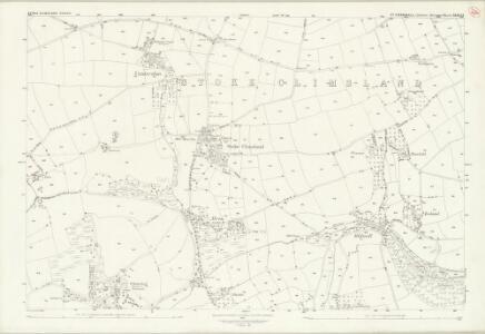 Cornwall XXIII.14 (includes: Stoke Climsland) - 25 Inch Map