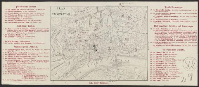 Plan von Frankfurt a/M.