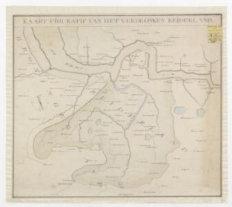 Kaart figuratif van het verdronken Reiderland