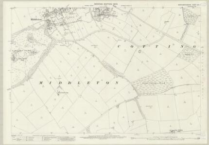 Northamptonshire XVII.1 (includes: Cottingham; East Carlton; Middleton) - 25 Inch Map