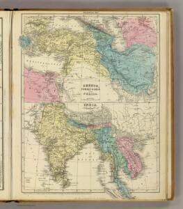 Greece, Turkey, Persia, India.
