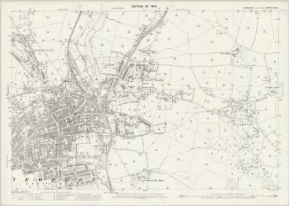 Hampshire and Isle of Wight XCV.2 (includes: Newport) - 25 Inch Map