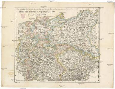 Karte des Central-Kriegsschauplatzes in Deutschland