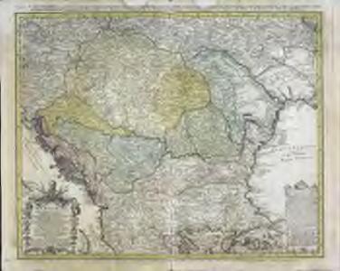Hvngariae ampliori significatu et veteris vel methodicae complexae regna: Hvngariae propriae, Croatiæ, Dalmatiae, Bosniae, Serviae, Bvlgariae, Cvmaniae, principatvm: Transylvaniae, despotatvs: Walachiae, Moldaviae [exclusis ab eadem alienatis Galitia et Lvdomiriria] in suas provincias ac partes divisae et quo ad imperanies ex Avstriacis, Tvrcis et Venetis distinctae [juncta tamen propter comoditatem Romania vel Romelia tvrcica] tabvla