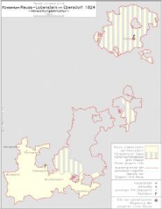 Reuß jüngere Linie Fürstentum Reuß-Lobenstein und Ebersdorf 1824 Verwaltungsstruktur