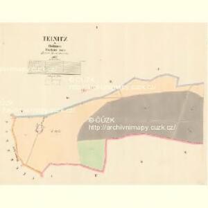 Teinitz - c8145-1-001 - Kaiserpflichtexemplar der Landkarten des stabilen Katasters