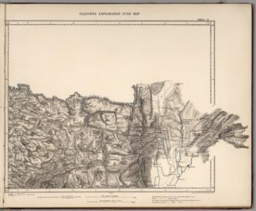 Sheet II.  Palestine Exploration Map.