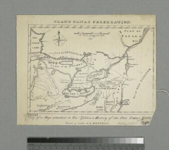 Copy of a map attached to Govr. Colden's History of the Five Indian Natio[ns] : printed in London, A.D. MDCCXLVII.
