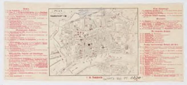 Plan von Frankfurt [a] / M
