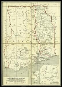 Die Goldküste und Togo. Uebersichtskarte mit den Missionsstationen der Basler- und der Norddeutschen Missionsgesellschaft