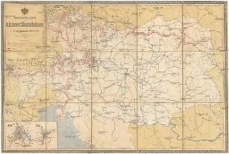 Übersichts-Karte der k. k. österr. Staatsbahnen