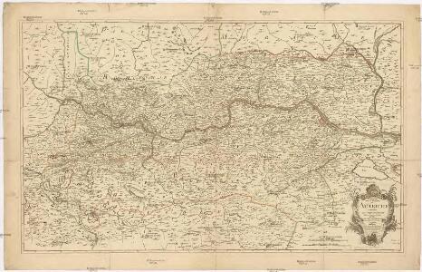 Theatre de la guerre en Autriche contenant le cours du Danube depuis Passau a Presburg