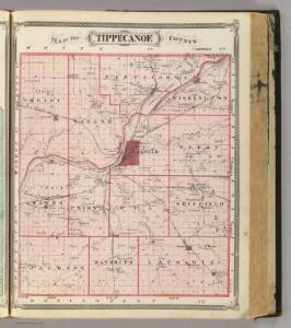 Map of Tippecanoe County.