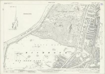 Surrey I.16 & 15 (includes: Heston and Isleworth; Kew; North Sheen; Richmond) - 25 Inch Map