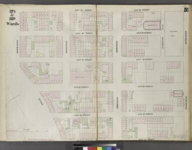 Plate 52: Map bounded by East 17th Street, Second Avenue, East 12th Street, Bowery, Fourth Avenue.