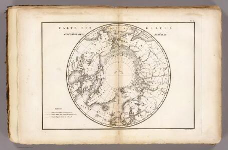 Carte des glaces boreales.
