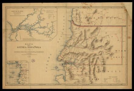 Mapa de la Guinea Española / formado y publicado por el Depósito de la Guerra