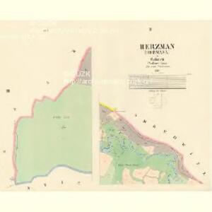 Herzman (Heřmana) - c1842-1-002 - Kaiserpflichtexemplar der Landkarten des stabilen Katasters
