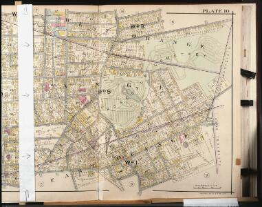 Orange County, Double Page Plate No. 10  [Map bounded by Columbia St., Watson St., Orange Rd., N. Brighton Ave., Wallace St., White St.]