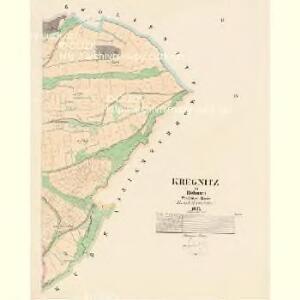 Kregnitz - c3548-1-002 - Kaiserpflichtexemplar der Landkarten des stabilen Katasters