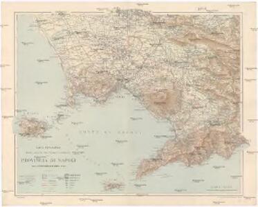 Carta topografica politico-amministrativa, stradale e ferroviaria della provincia di Napoli