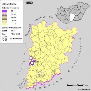 Kroaten im Komitat Bács-Kiskun 1980