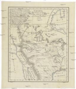 Charte pour servir au voyage des cap.es Lewis et Clarke a l'ocean Pacifique 1804