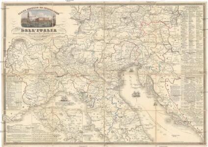 Carta postale ed itineraria dell'Italia
