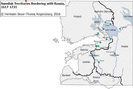 Swedish Territories Bordering with Russia, 1617–1721