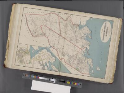 Westchester, Double Page Plate No. 13 [Map of Towns of Scarsdale, New Rochelle, and Mamaroneck] / prepared under the direction of Joseph R. Bien, from general surveys and official records.