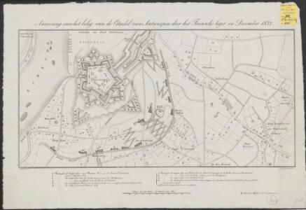 Aanvang van het beleg van de Citadel van Antwerpen door het Fransche leger in December 1832