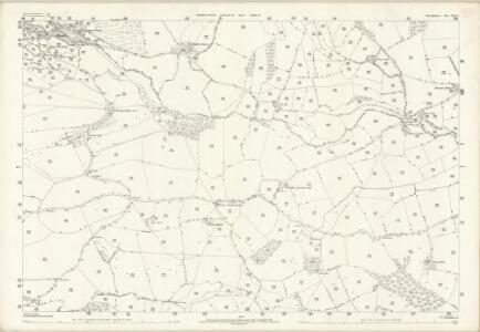 Denbighshire XLIV.2 (includes: Llansilin) - 25 Inch Map