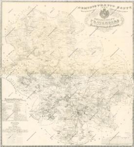 Administrativ Karte der Hochfürstlich Schwarzenberg ́schen Herrschaft Frauenberg...