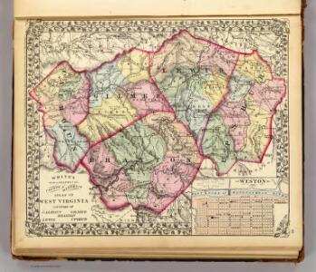 Calhoun, Gilmer, Braxton, Lewis, Upshur counties.