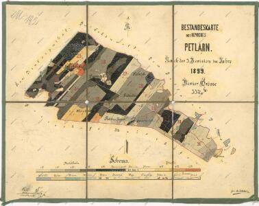 Porostní mapa revíru Žebráky