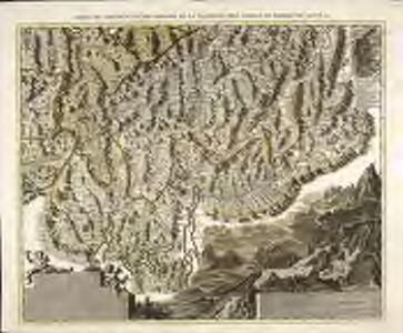 Carte du canton d'Uri des Grisons de la Valteline de comtez de Bormio de Cleve &c