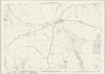 Cornwall XLIX.5 (includes: Ladock; Newlyn; St Enoder; St Erme) - 25 Inch Map