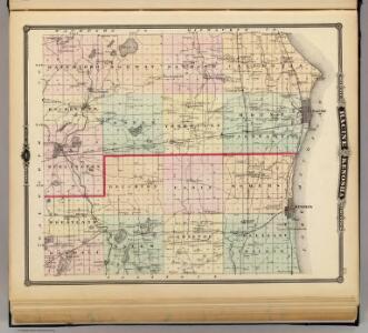 Map of Racine and Kenosha counties, State of Wisconsin.